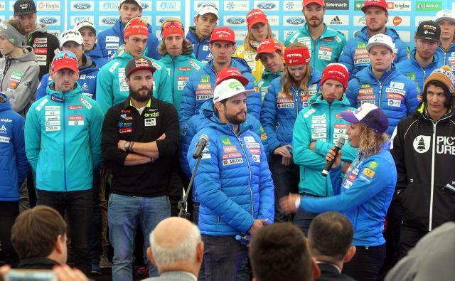 Filip Flisar (drugi z leve) in Boštjan Kline (tretji z leve) se bosta tokrat pomerila med seboj. FOTO: Marko Feist/Slovenske novice