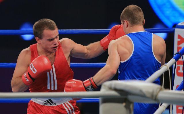 Aljaž Venko (levo) bo imel 7. aprila že svoj drugi profesionalni dvoboj. FOTO: Tadej Regent