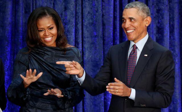 Zakonca Obama sta po odhodu iz Bele hiše zelo uspešna komercialna blagovna znamka. FOTO: Reuters
