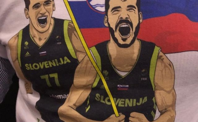 Luka Dončić in Goran Dragić - I feel Slovenia. FOTO: Will Manso / Twittter