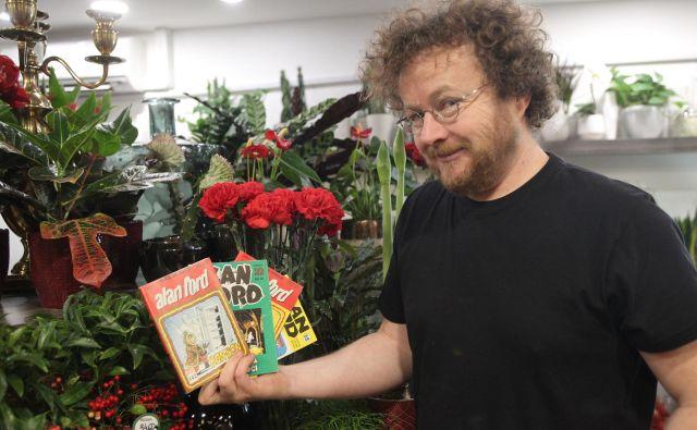 »To je strip, ki te objame,« pravi Rok Glavan, antikvar in organizator razstave o <em>Alanu Fordu</em>. Foto Mavric Pivk