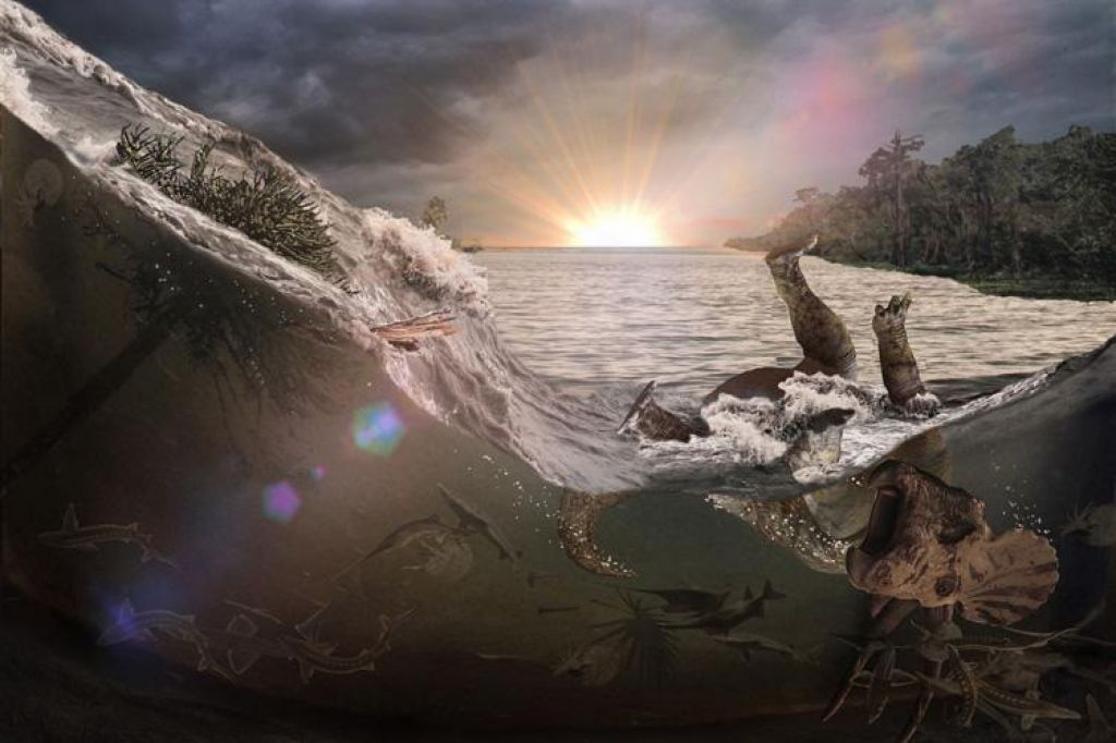 FOTO:Izjemno odkritje fosilov, povezanih z izumrtjem dinozavrov