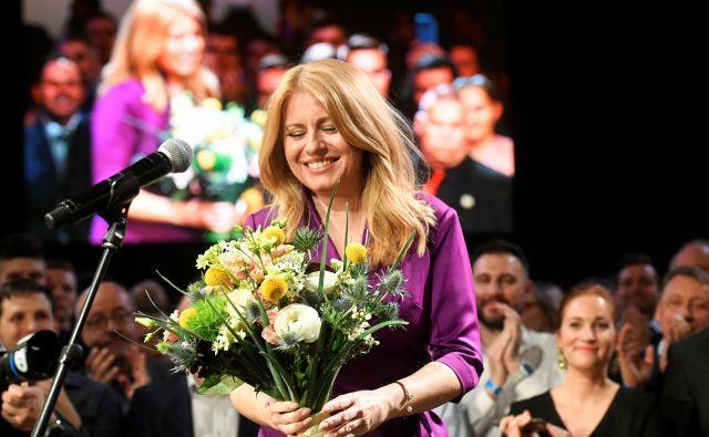 Zuzana Čaputova je napovedala jasno proevropsko držo. FOTO: Radovan Stoklasa/Reuters