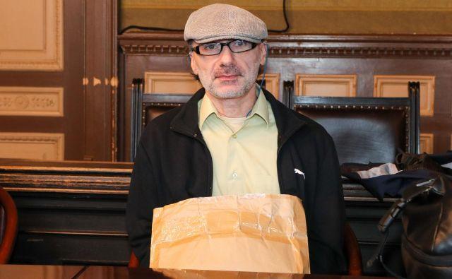 Sojenje Stephanu Michelu za poskus umora septembra lani. FOTO: Marko Feist