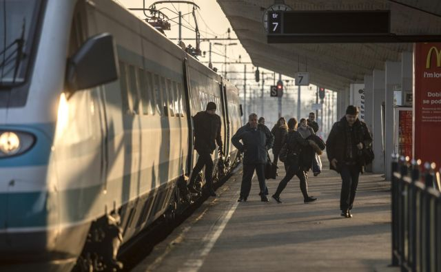 Sama z mladci na mednarodnem vlaku za Dunaj nisem bila v nikakršni povezavi. FOTO: Voranc Vogel/delo