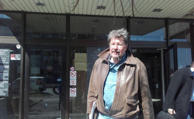 Igor Bavčar ob izhodu iz koprskega sodišča. FOTO: Nataša Čepar