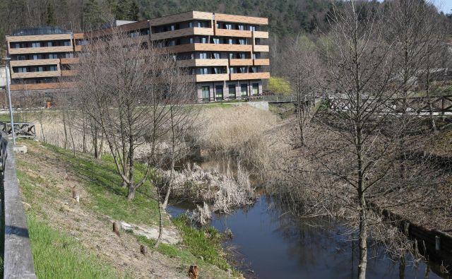Do jeseni bodo Črnuški bajer spremenili v prijetno točko za sprehajalce. FOTO: Tomi Lombar/Delo