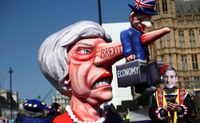 Zagovorniki mehkega brexita se morajo vprašati, ali bi tovrstna alternativa ločitvenemu sporazumu v očeh večine volivcev še odražala izid referenduma iz leta 2016. Foto Reuters