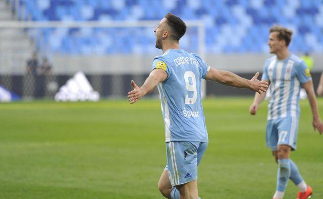 Andraž Šporar je v tej sezoni slovaškega prvenstva zabil že 21 golov. FOTO: Slovan Bratislava
