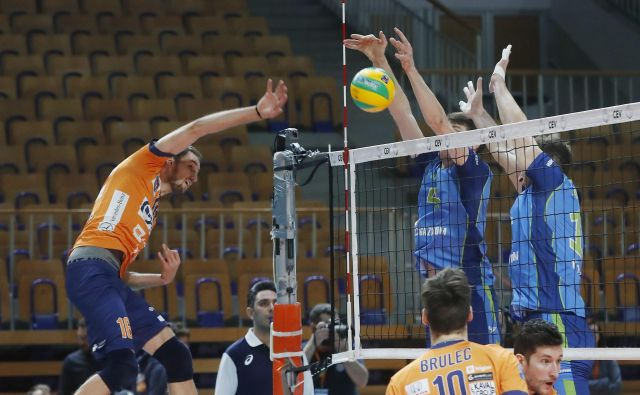 Jan Pokeršnik (ACH Volley) je dosegel 24 točk. FOTO: Leon Vidic