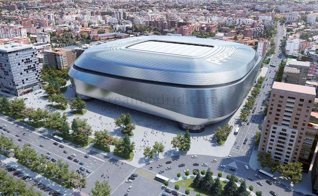 Realov stadion, ki nosi ime Santiaga Bernabeua, bo v prihodnje še bolj izstopal. FOTO: Reuters