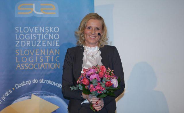 Valerija Špacapan Friš, generalna direktorica DB Schenker, je prejela priznanje Logist leta 2018. FOTO: Jože Suhadolnik/Delo