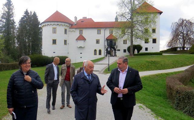 Ruski veleposlanik Doku Gapurovič Zavgajev na gradu Bogenšperk. FOTO: Bojan Rajšek/Delo