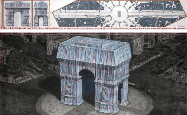 Christo je zamisel za preobleko Slavoloka zmage dobil že leta 1962. FOTO: André Grossmann © 2019 Christo