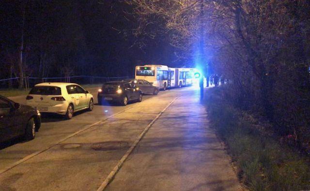 V incidentu je bil udeležen avtobus mestne linije 6B. Storilec naj bi neuradno vanj vstopil na Slovenski cesti. FOTO: M. M.