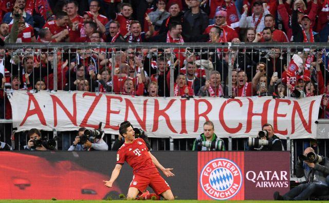 Robert Lewandowski je zabil dva gola nekdanjemu klubu. FOTO: Reuters