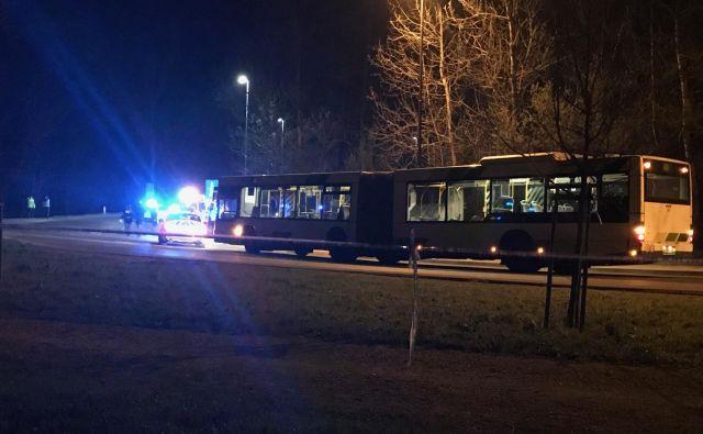 Ugrabljeni avtobus Ljubljanskega potniškega prometa. FOTO: M. M.