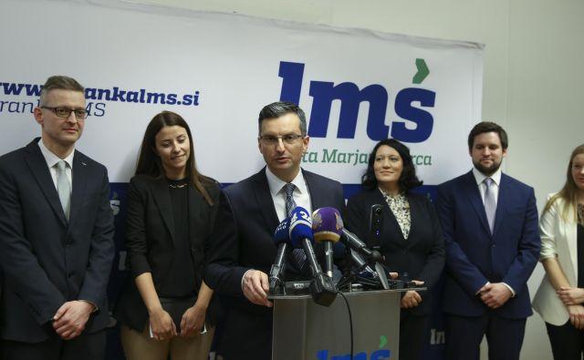 Predsednik stranke LMŠ Marjan Šarec verjame v svojo evropsko listo. Foto Jože Suhadolnik