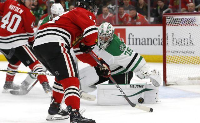 Hokejisti Chicaga so šestkrat zatresli mrežo Dallasa. FOTO: Reuters