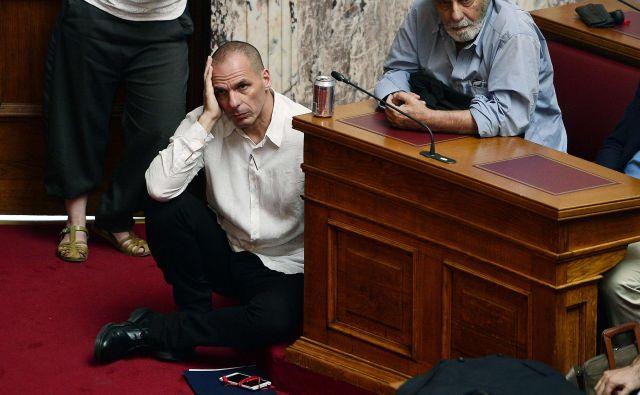 Janis Varufakis je bil grški finančni minister od januarja do julija 2015. FOTO: AFP
