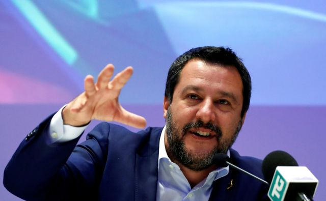 Matteo Salvini se je sestal z voditelji desnice iz Nemčije, Finske in Danske. FOTO: Reuters