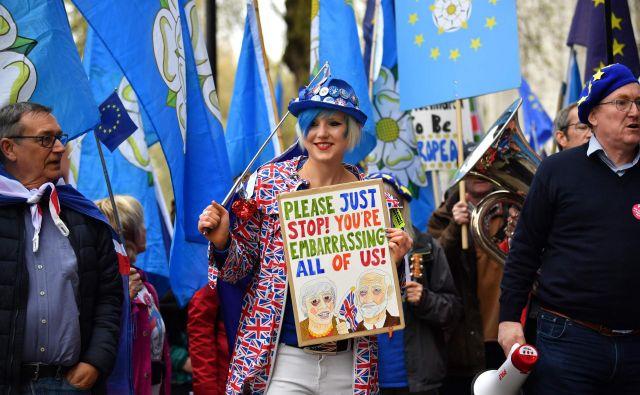 Britanska vlada je določila 23. maj za datum evropskih volitev. Dodali so sicer pričakovanje, da jim jih ne bo treba izvesti in da bo Združeno kraljestvo do takrat že zapustilo Evropsko unijo. Foto Ben Stansall Afp