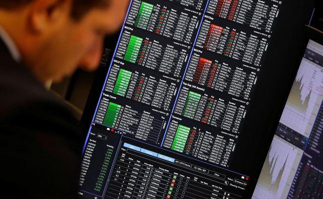 Na borzah je letos več zelene kot rdeče<br /> Foto Reuters
