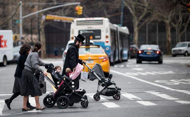 Žarišče epidemije ošpic v New Yorku je ortodoksna judovska skupnost v četrti Williamsburg. FOTO: AFP