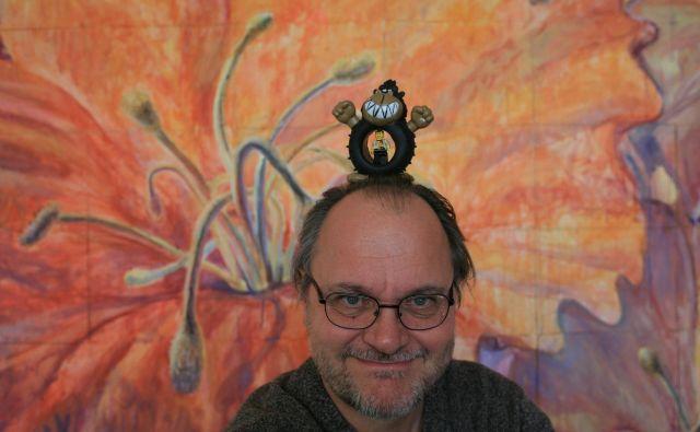 Milan Erič z izjemno pozitivno energijo pomembno vpliva in pušča za seboj globoke sledi na področju ilustracije, risbe in animiranega filma, meni žirija Jakopičeve nagrade. Foto Uroš Hočevar