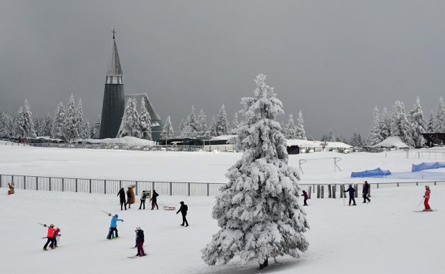 Na Rogli spet sneži, a so v petek žičnice ustavili. FOTO: Brane Piano