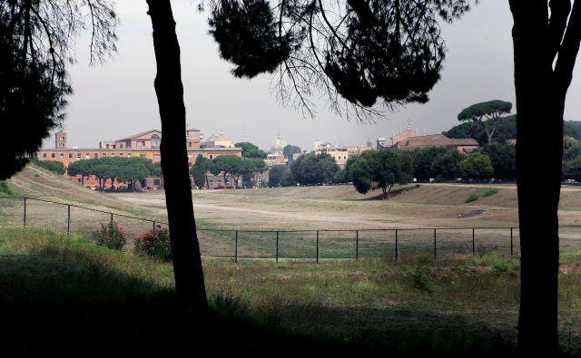 Circus Maximus v Rimu, kjer Salvini napoveduje veliko majsko zborovanje suverenistov. FOTO: Reuters