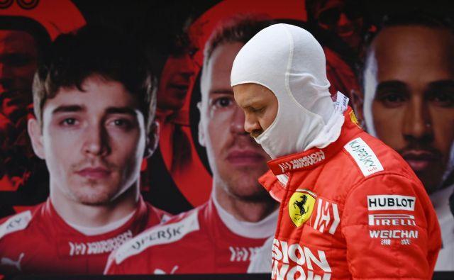 Sebastian Vettel čuti pritisk nadobudnega moštvenega kolega Charlesa Leclerca. FOTO: AFP