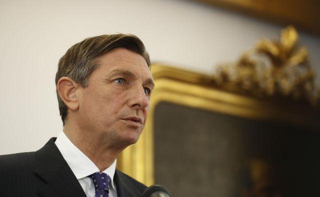 Pahor je o odnosu s sosednjimi državami spregovoril ob robu dneva slovensko-ameriškega prijateljstva v Andražu pri Polzeli. FOTO: Leon Vidic/Delo