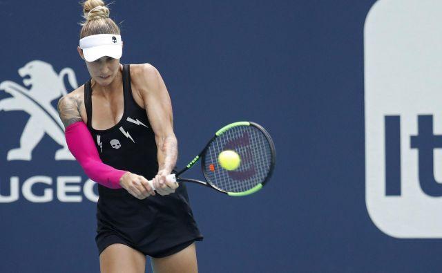 Polona Hercog je odigrala svoj prvi finale po letu dni in bila uspešna. FOTO: Usa Today Sports