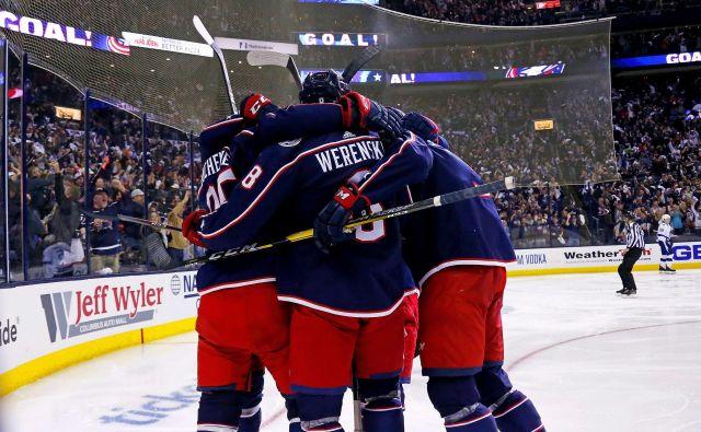 Hokejisti Columbusa so proti Tampi slavili še tretjo zmago. FOTO: AFP