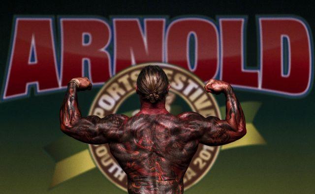 V Sao Paulu je potekalo tekmovanje v bodybuildingu Arnold Classic Brazil. Letno multidisciplinarno športno tekmovanje je poimenovano po avstrijsko-ameriškem igralcu, politiku in nekdanjem bodybuilderju Arnoldu Schwarzeneggerju. Foto Miguel Schincariol Afp