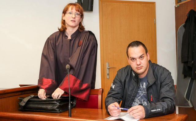 Uroš Smiljić in njegova pooblaščenka Maja Vagaja. FOTO: Marko Feist