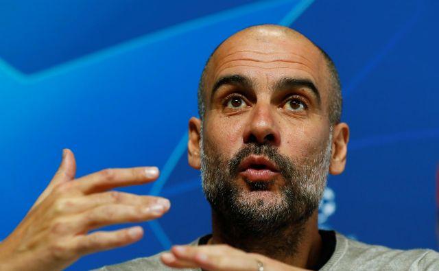 Sloviti trener Pep Guardiola bi v primeru uspešne sezone na klopi Manchester Cityja ogrozil svoj rekordni dosežek iz leta 2009, ko je vodil Barcelono.FOTO: Reuters