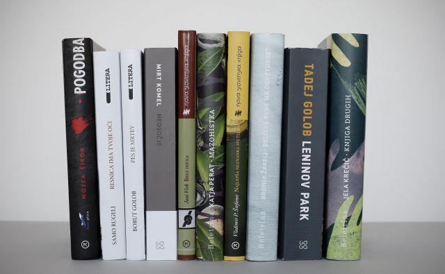 Deset finalistov Delove nagrade za roman leta kresnik.<br /> FOTO: Blaž Samec/Delo