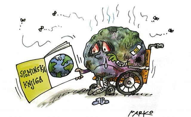 Uboga Zemlja. KARIKATURA: Marko Kočevar