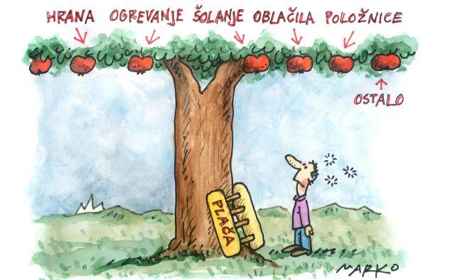 Karikatura dneva. Foto Marko Kočevar
