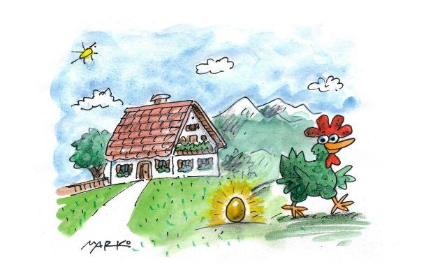 Nekatere kmetije nesejo zlata jajca. FOTO: Marko Kočevar