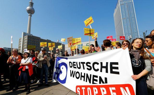 Berlinčane razburajajo visoke najemnine za stanovanja. Foto: Reuters