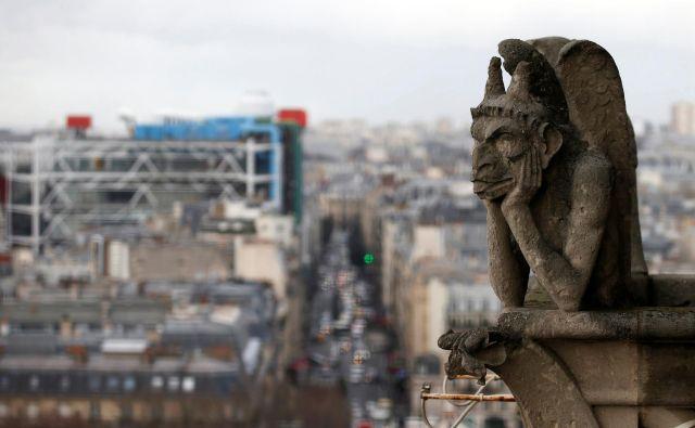 Srednjeveški bruhalniki so ena izmed glavnih znamenitosti katedrali. FOTO: Charles Platiau/Reuters