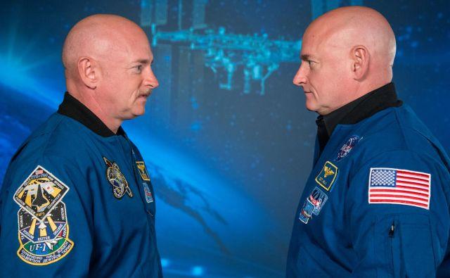 Enojajčna dvojčka Scott in Marc Kelly sta oba astronavta in edina brata, ki sta bila v vesolju. Foto Nasa