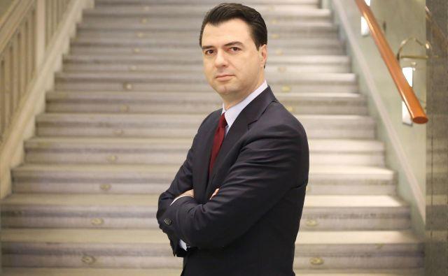 Lulzim Basha vidi v Sloveniji vzor za uresničitev potencialov Albanije – a brez ponavljanja napak. FOTO: Leon Vidic