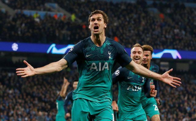 Fernando Llorente je dosegel odrešilni gol za Tottenham. FOTO: Reuters