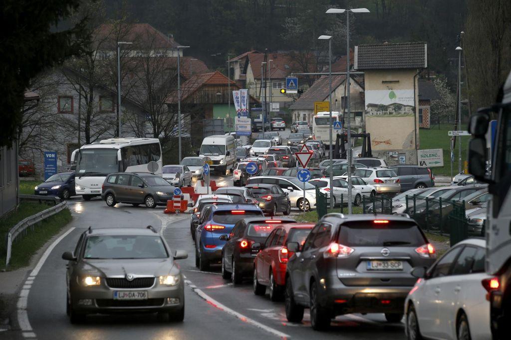 FOTO:Prometni kaos na Škofljici bo še večji