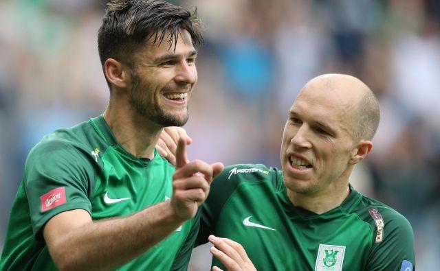 Rok Kronaveter (levo) je bil v zadnji tekmi proti Aluminiju glavni adut trenerja Safeta Hadžića. FOTO: Tomi Lombar