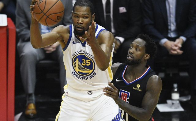 Kevin Durant je za zmago Bojevnikov dosegel 38 točk. FOTO: Usa Today Sports